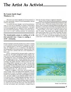 Activist Brochure, page 1